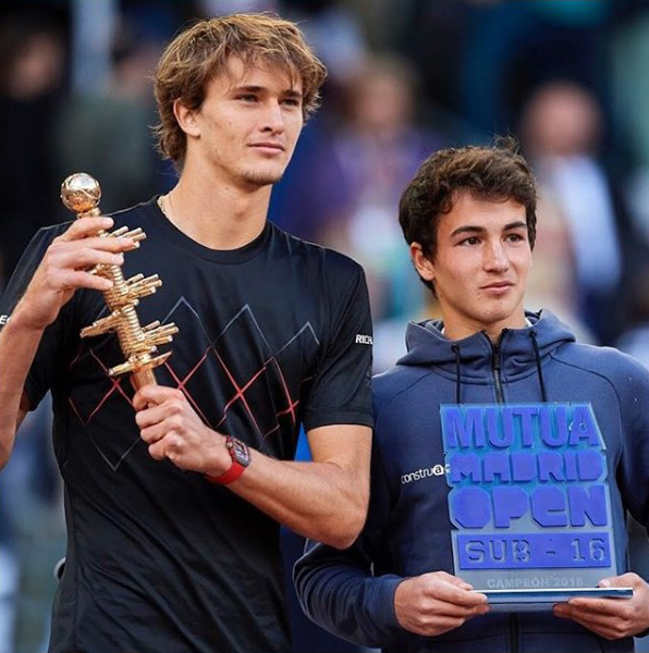 Alex Zverev y Mario Mansilla.